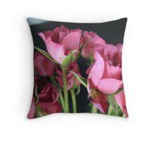 Macro Rose Throw Pillow