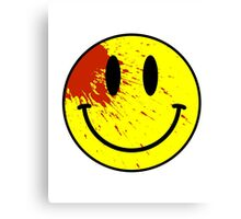 Acid House Smiley Face - Bloodied Canvas Print
