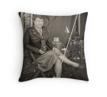 WW II Wac Throw Pillow