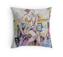 Sitting Tall Throw Pillow