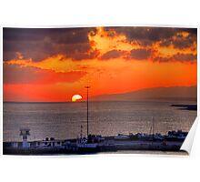 Sunrise over Crete Poster