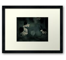 Flowery blues Framed Print