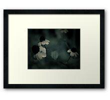 Flowery blues Framed Print
