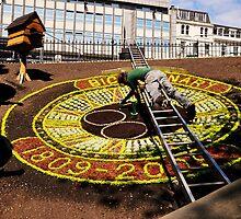 Edinburgh's floral clock. by Finbarr Reilly
