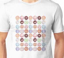 Hipster Donut Tiled Design Unisex T-Shirt