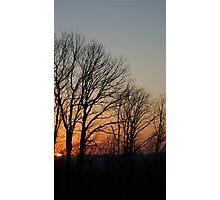Setting Sun Tall Photographic Print