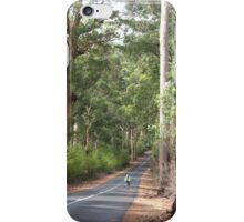 Cycling in the forest iPhone Case/Skin