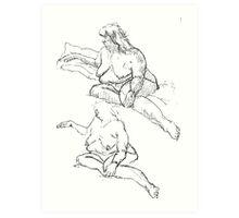 Figure Studies Art Print