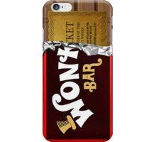 Wonka Bar phone case with ticket iPhone Case/Skin