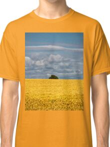 Golden harvest and blue sky Classic T-Shirt