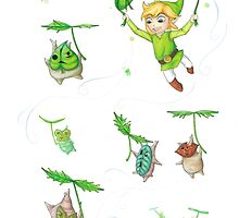 Link & the Koroks by itssabbyg