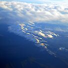 Rocky Mountains from 37,000 ft by Irvin Le Blanc