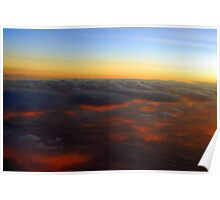 Sunset To My Back At 37,000 ft Poster