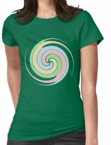 Swirl by Chillee Wilson Womens Fitted T-Shirt