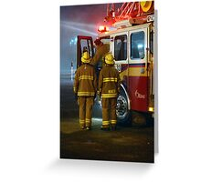 Firefighters Arriving On Scene Greeting Card