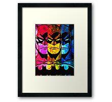 Batman - Pop Art Style Framed Print