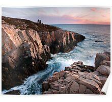 Red Rock Cliffs - Little Moose Island Poster