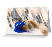 Blue Brush Greeting Card