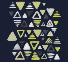 Summer Yellow Triangles on Grey Kids Tee