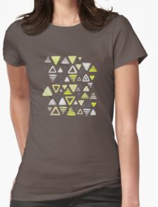 Summer Yellow Triangles on Grey T-Shirt