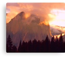 CATHEDRAL ROCKS ON FIRE Canvas Print