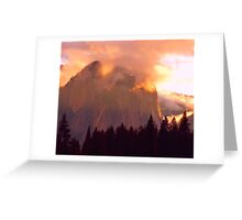 CATHEDRAL ROCKS ON FIRE Greeting Card