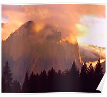 CATHEDRAL ROCKS ON FIRE Poster