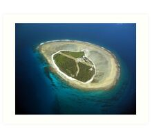 Lady Elliot Island, the very southern tip of the Great Barrier Reef Art Print