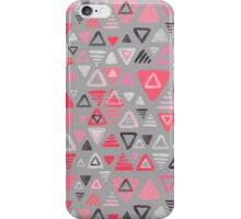 Summer Melon Hot Pink Triangles on Grey iPhone Case/Skin