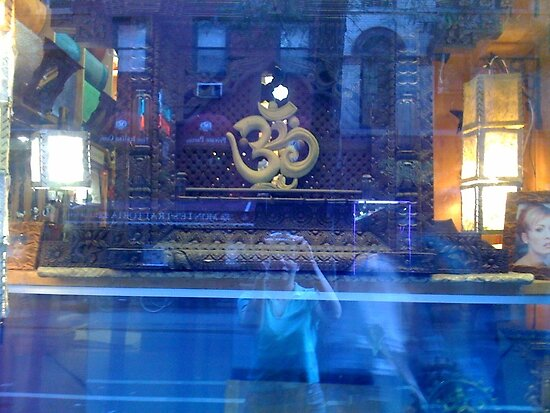 Tibetan Store Reflection - Greenwich Village by SylviaS