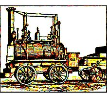 """Blücher"" a steam locomotive by George Stephenson 1814 Photographic Print"