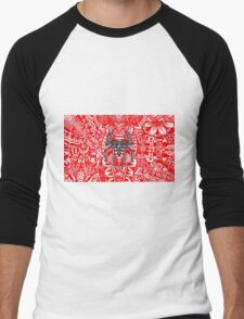 Spider-Man Zentangle Art Men's Baseball ¾ T-Shirt