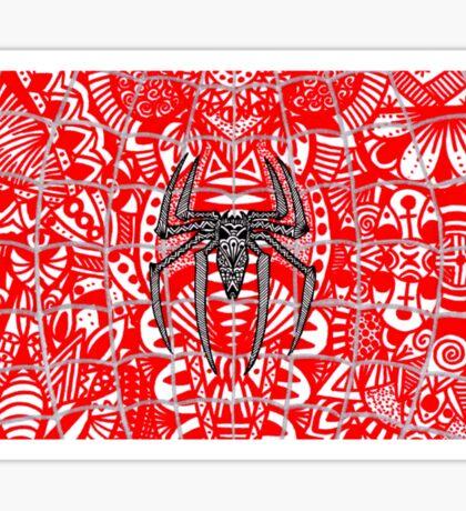 Spider-Man Zentangle Art Sticker