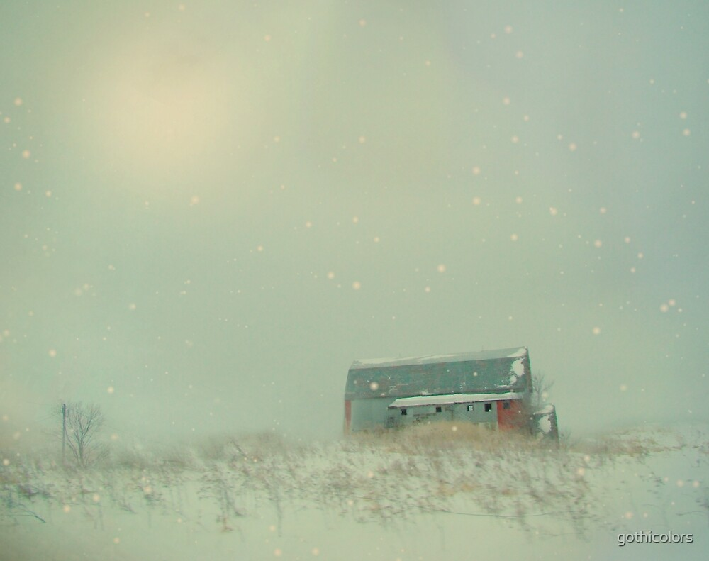 Winter Barn by gothicolors