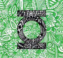 Green Lantern Zentangle Art by LeonniesArt