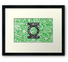Green Lantern Zentangle Art Framed Print