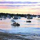 Lobster Boats At Twilight In Cape Cod by daphsam