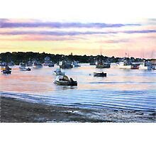 Lobster Boats At Twilight In Cape Cod Photographic Print
