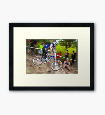 Downhill Mountain Biking - NZ Nationals Framed Print