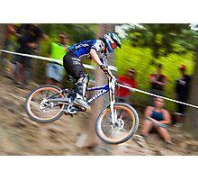 Downhill Mountain Biking - NZ Nationals Photographic Print