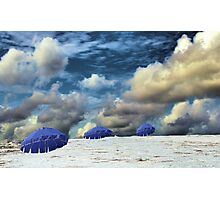 Beach Umbrellas Photographic Print