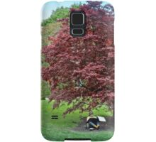 Sketching Under The Red Maple - Grounds for Sculpture Samsung Galaxy Case/Skin