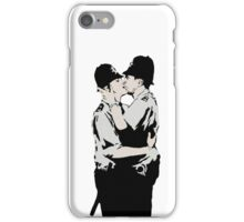 Kissing Coppers iPhone Case/Skin