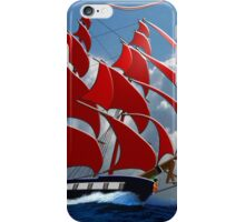 The Clipper Ship Indian Queen Races for Home iPhone Case/Skin