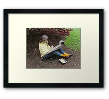 Sketching Under The Red Maple (Close-up) Framed Print