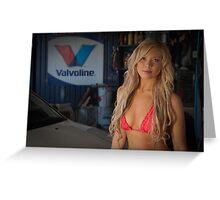 Garage Girl Greeting Card