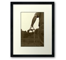 The Pitcher Framed Print