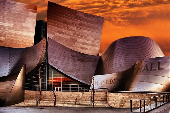 Walt Disney Music Hall at Sunset by jodice