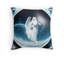 Christmas Dreams Angel Throw Pillow