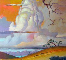 Cottonwood Clouds #3 by John N.  Stewart